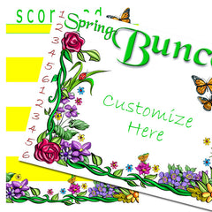 Bunco Scorecards - Spring Flowers (personalized)