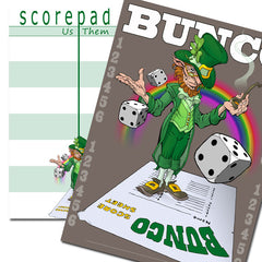Bunco Scorecards - St. Patrick's Day Leprechaun