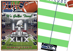 Bunco Scorecards - Superbowl