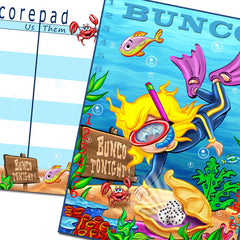 Bunco Scorecards - Under The Sea Bunco