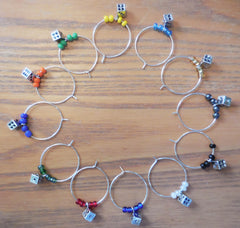 Bunco Dice Wine Charms 2