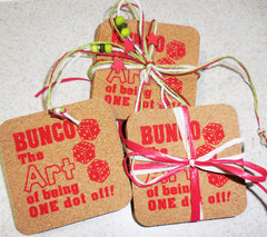 Bunco Cork Coasters