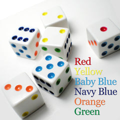 Bunco Dice - Colored Pips