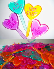 Heart Cake or Cupcake Toppers