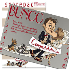 Bunco Scorecards - Wedding Wishes (personalized)