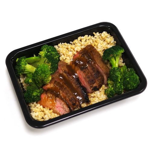 Steak, Brown Rice and Broccoli