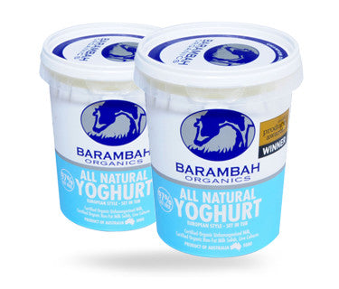 Barambah Organics Yoghurt ALL NATURAL 500g
