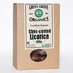 Green Grove Organics Milk Chocolate Coated Licorice 180g