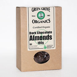 Green Grove Organics Dark Chocolate Coated Almonds 180g