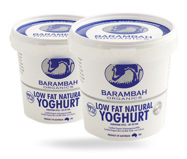 Barambah Organics Yoghurt Low Fat NATURAL 500g