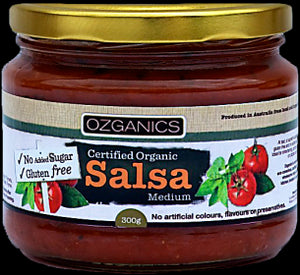 Ozganics SALSA Medium gluten free no added sugar 310g