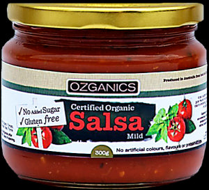 Ozganics SALSA Mild gluten free no added sugar 310g