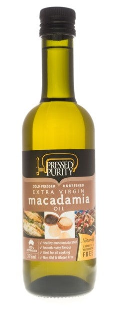 OIL Macadamia 375ml Pressed Purity