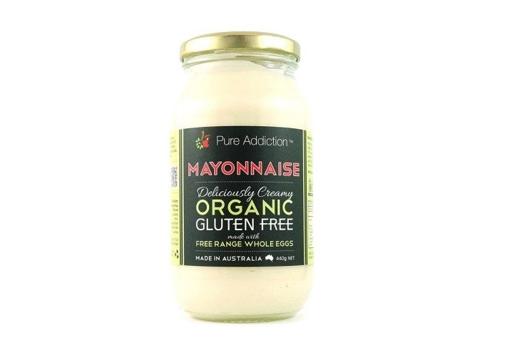 MAYONNAISE Pure Addiction Organic GF Australian 440g
