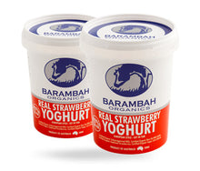 Load image into Gallery viewer, Barambah Organics Yoghurt REAL STRAWBERRY 500g