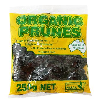 Brooke-Kelly Organic Moistened PRUNES 250g