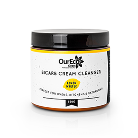OurEco Clean Bicarb Cream Cleanser LEMON MYRTLE 550g