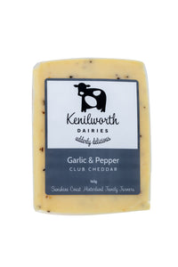 Kenilworth Cheese Garlic & Cracked Pepper Club Cheddar 165g