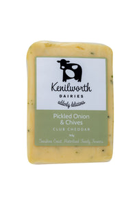 Kenilworth Dairies Pickled Onion & Chive Club Cheese 165g