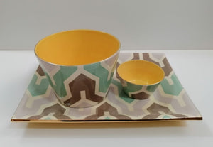Flame Bowls and Trays (Yellow/Green)
