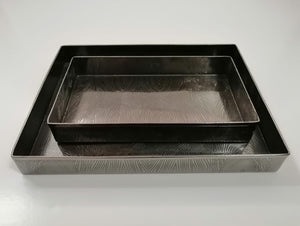 Nested Rectangular Tray Set - Black