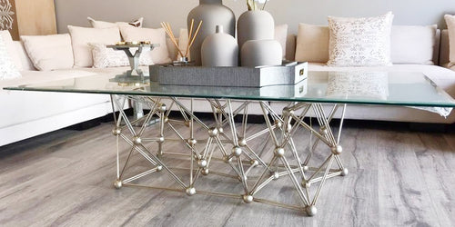 Silver Leaf Iron Coffee Table