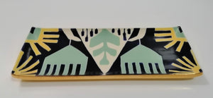 Green Ikat Bowls and Trays