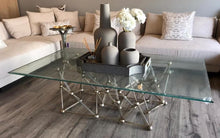 Load image into Gallery viewer, Silver Leaf Iron Coffee Table