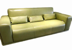PP-Green Leather Sofa