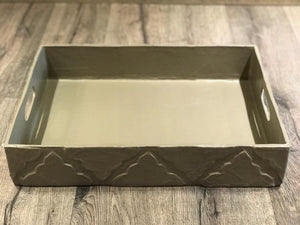 Brown Rectangular Tray