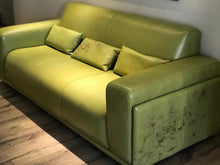 Load image into Gallery viewer, PP-Green Leather Sofa