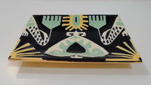 Load image into Gallery viewer, Green Ikat Bowls and Trays