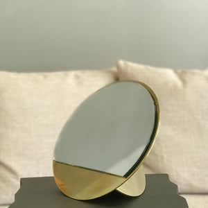 Brass Mirror Sculpture
