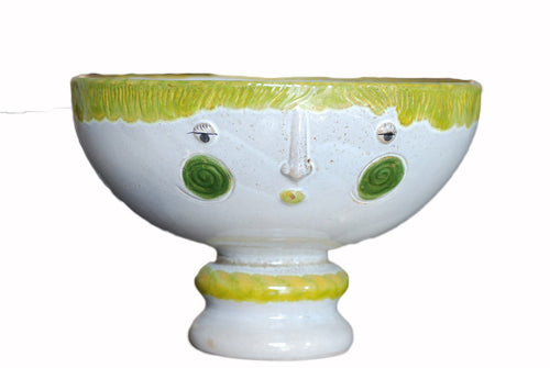 Green Smiley face - Vase