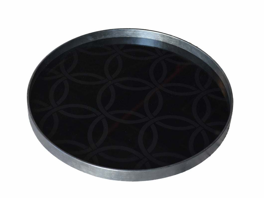 PP-20434- Charcoal mirror tray