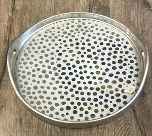 PP-Dotted mirror tray