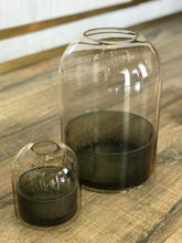 Load image into Gallery viewer, Glass Lantern - Amber/Black
