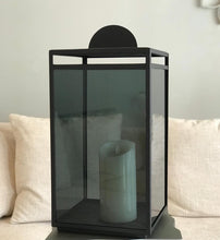 Load image into Gallery viewer, Glass Lantern - Black