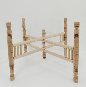 Wooden Leg Tray Stand