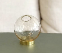 Load image into Gallery viewer, Globe Vase - Amber/Gold