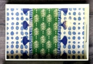 Patterned Rectangular Tray