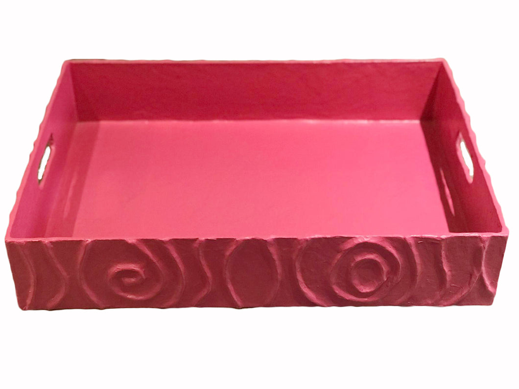 Pink Rectagular Tray