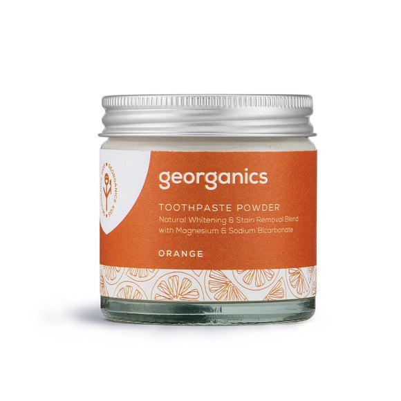 Natural Whitening Toothpaste Powder - Orange - 60 gr (Georganics)
