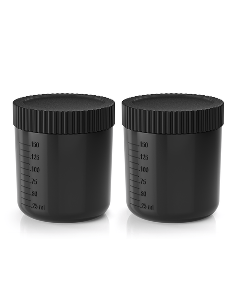 Excess 3 Tan.Cup 2 Pack inc Lids - Black Transparent