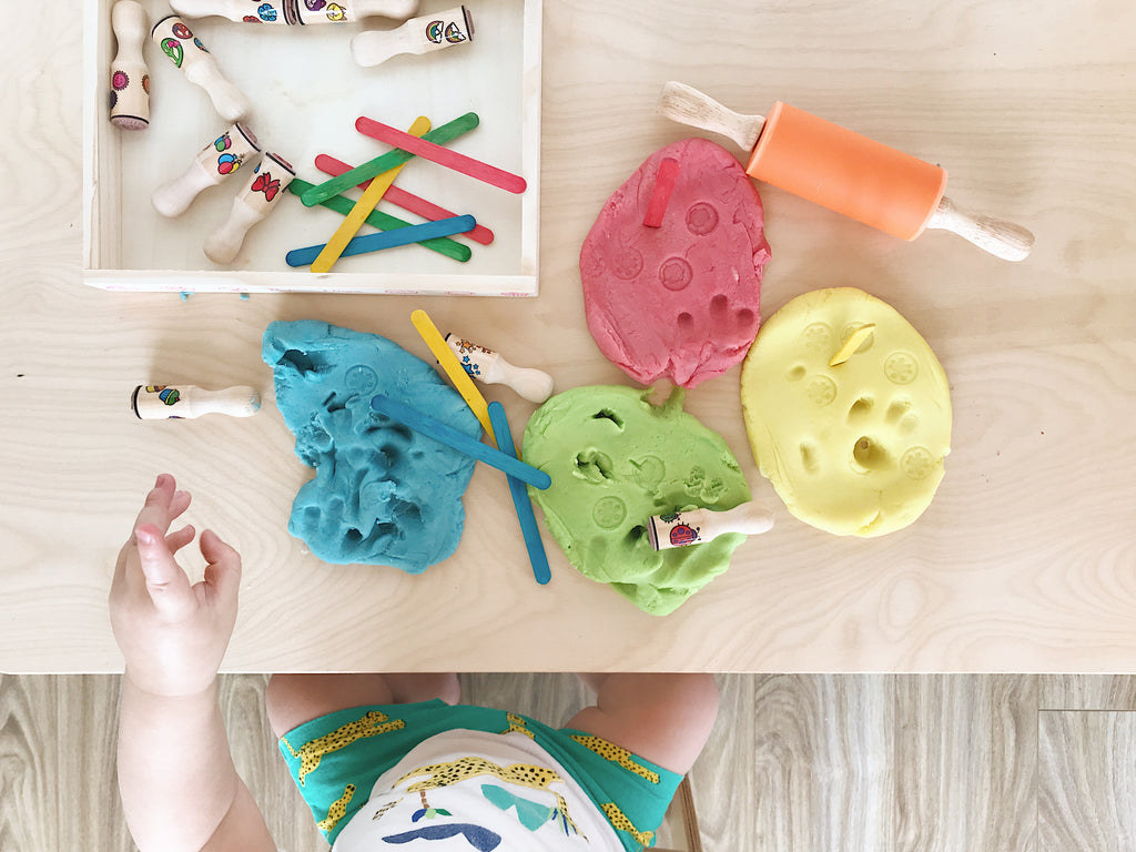 easiest ever homemade organic playdough