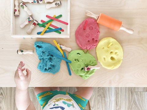 easiest DIY play dough with natural dye