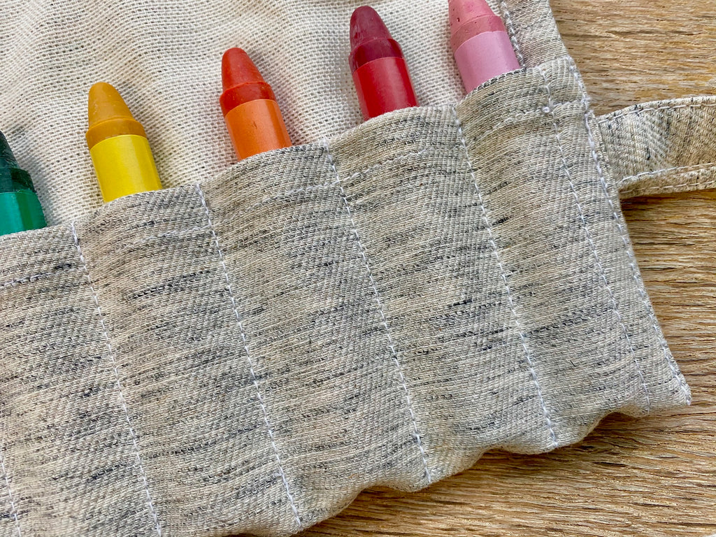 Crayon Holder + Beeswax Crayons