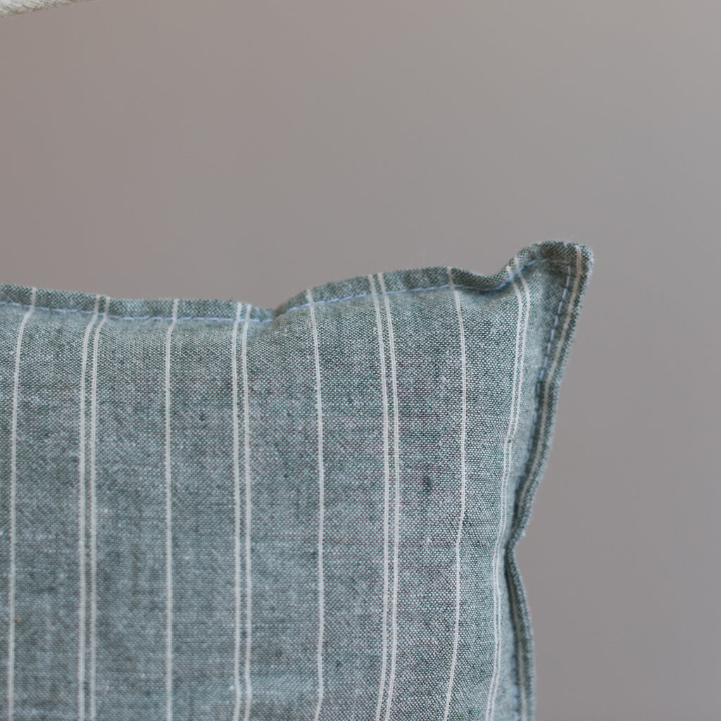 Forest Stripe - Organic Mini Cushion