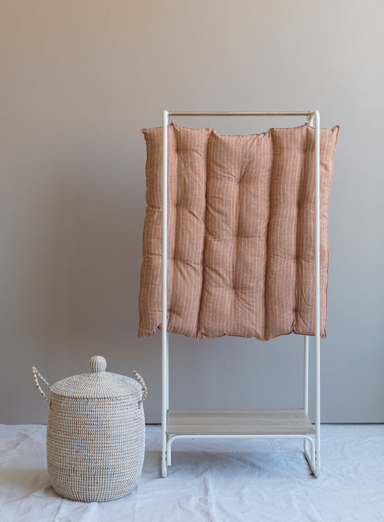 Terracotta Stripe - Organic Floor Cushion