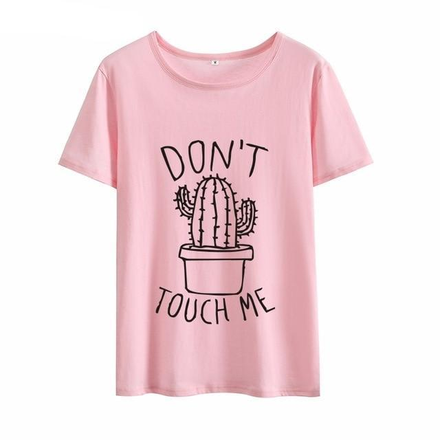 """Don't Touch Me"" Cactus T-shirt"